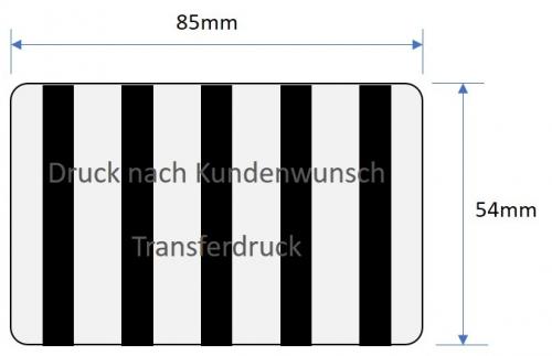 RFID Karte mit Transferdruck bedrucken