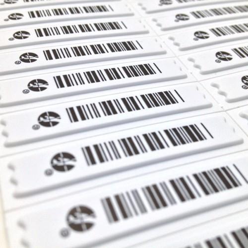 Etiketten für Warensicherung