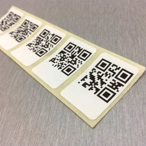 1000 pieces printed QR codes as a roll