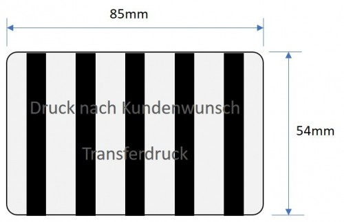 RFIC Card printing in black and white