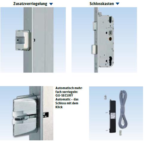 Motorische 3-fach Tür Verriegelung