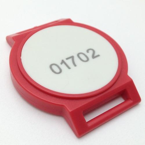 E500 Uhrentransponder Rot/Weiß Dual ISO14443 und HITAG1
